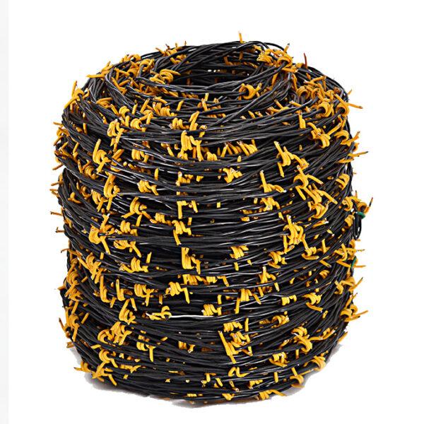 alambre puas amarillo y negro