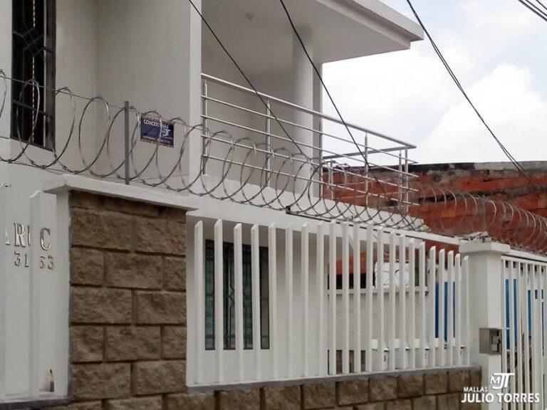 3. Cerramiento en concertina residencial 2